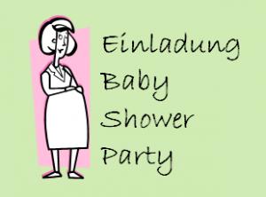 Beispiel Babyparty Einladung