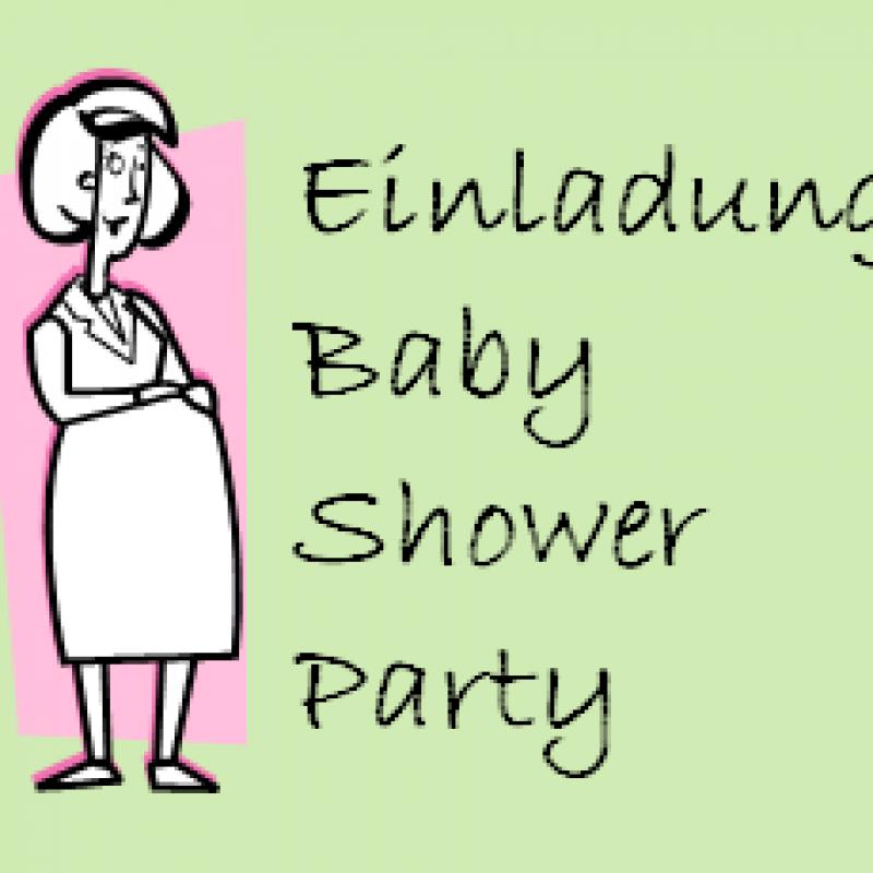 einladung zur baby shower party - baby shower party, Einladung